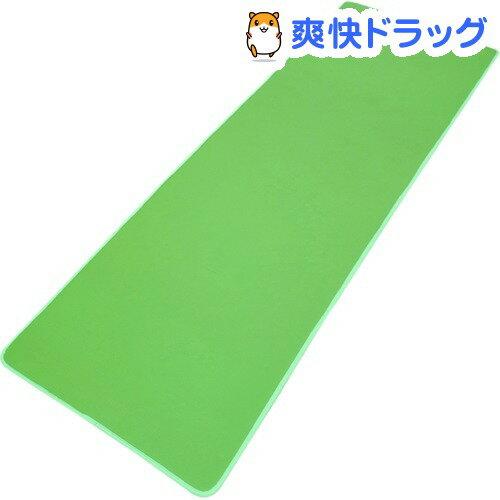 やわらかヨガマット ふわり〜な グリーン 約60*180cm(1枚入)【送料無料】