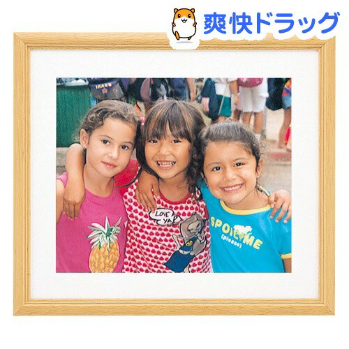 フジカラー 木製額縁 YM-3 ワイド4切 木地(1コ入)