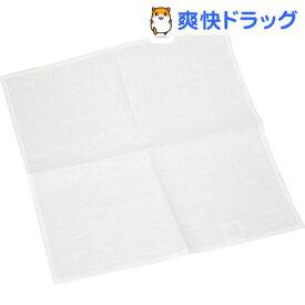 リネンハンカチ ホワイト 40cm×40cm H2(1枚入)【Cadeau屋】