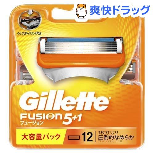 ジレット フュージョン5+1 替刃12B(12コ入)【pgstp】【ジレット】【送料無料】