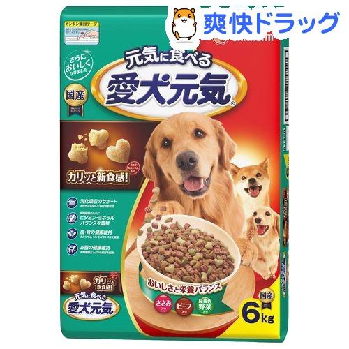 愛犬元気 全成長段階用 ささみ・ビーフ・緑黄色野菜入り(6kg)【愛犬元気】