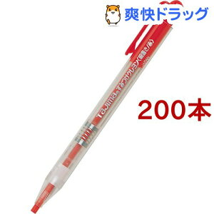 タジマ すみつけクレヨン(細書き) 赤 SKH-RED(200本セット)【タジマ】