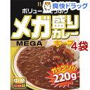 ハチ食品 メガ盛りカレー キーマ 中辛(220g*4袋セット)【Hachi(ハチ)】