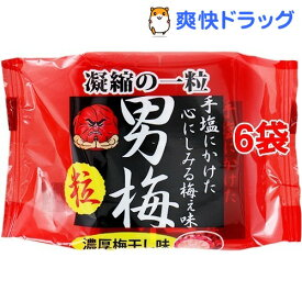 ノーベル製菓 男梅粒(14g*6コ)【男梅】