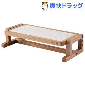 ネココ 高さと角度を変えられる ウッディキャットテーブル(1コ入)【necoco(ネココ)】
