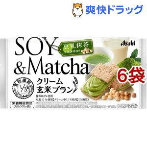 バランスアップ クリーム玄米ブラン 豆乳抹茶(72g*6袋セット)【バランスアップ(BALANCEUP)】