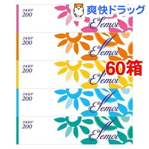 エルモア ティシュー 400枚(200組)(5箱*12コセット)【エルモア】【送料無料】