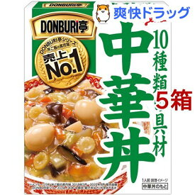 DONBURI亭 中華丼(210g*5箱セット)【DONBURI亭】