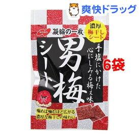 ノーベル製菓 男梅シート(27g*6コ)【男梅】