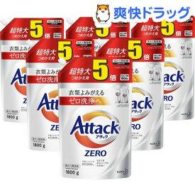 アタックZERO 洗濯洗剤 詰め替え 超特大サイズ 梱販売用(1800g*6コ入)【atkzr】【アタックZERO】[ゼロ 洗浄 消臭 つめかえ 詰替 液体 まとめ買い]