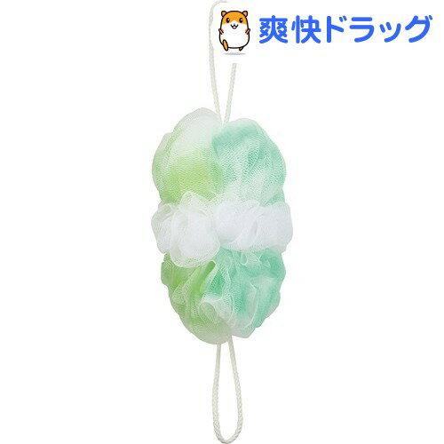 マーナ 背中も洗えるシャボンボール オーロラ グリーン B587G(1コ入)【マーナ】