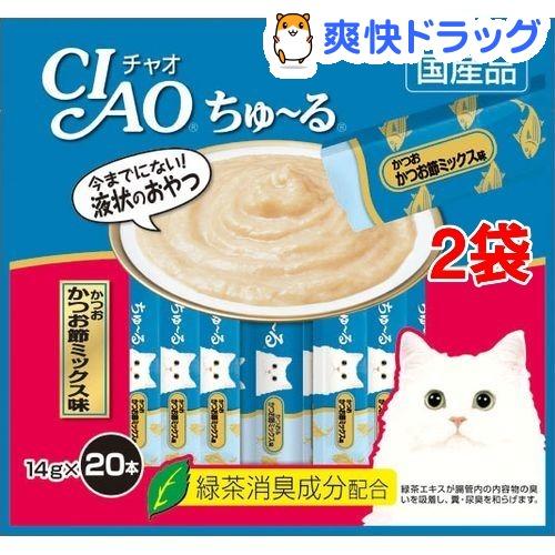 いなば チャオ ちゅ〜る かつお かつお節ミックス味(20本入*2コセット)【チャオシリーズ(CIAO)】
