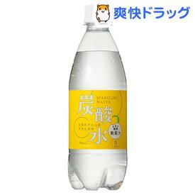 国産 天然水仕込みの炭酸水 レモン(500mL*24本入)[炭酸水 500ml 24本 国産]