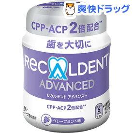 リカルデント アドバンス グレープミント味 粒ガム ボトル(140g)【リカルデント(Recaldent)】[おやつ]
