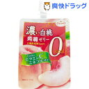 濃い蒟蒻ゼリー 0kcaL 白桃味(150g*6個)【たらみ】