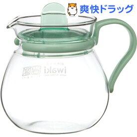 イワキ レンジのポット・プチティー グリーン K842-G(1コ入)【イワキ(iwaki)】
