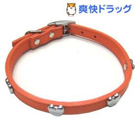 ダブルレザーカラーハート オレンジ Mサイズ(1コ入)