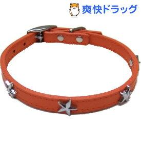 ダブルレザーカラースター オレンジ Mサイズ(1コ入)