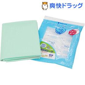 速乾防水シーツ 緑色(2枚入)