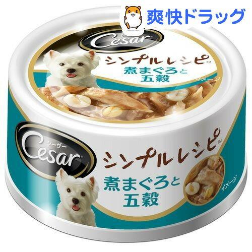 シーザー シンプルレシピ 煮まぐろと五穀(80g)【シーザー(ドッグフード)(Cesar)】