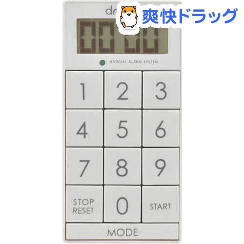 ドリテック デジタルタイマー スリムキューブ ホワイト T-520WT(1コ入)【ドリテック(dretec)】