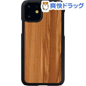 マン&ウッド iPhone 11 天然木ケース Cappuccino I16843i61R(1個)【マン&ウッド(Man&Wood)】