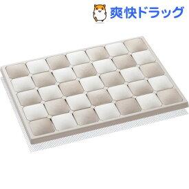 Karari 珪藻土フットタイルバスマット S ベージュ(1コ入)【Karari】