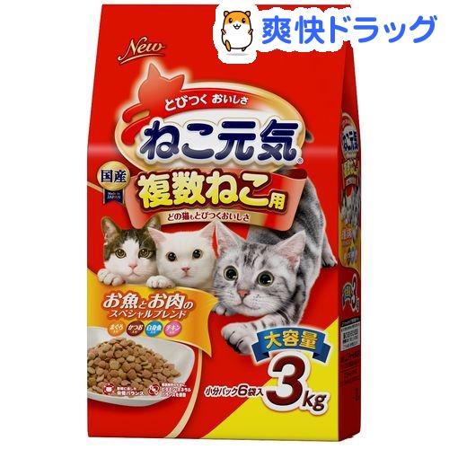 ねこ元気 複数ねこ用 お魚とお肉のスペシャルブレンド(3kg)【ねこ元気】