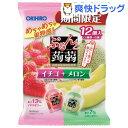 ぷるんと蒟蒻ゼリー パウチ イチゴ+メロン(20g*12コ入)【ぷるんと蒟蒻ゼリー】