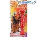 かみかみフルーツボーン ストロベリー Mサイズ(1本入)【スーパーキャット】[犬 おもちゃ]