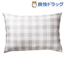 東京西川 枕カバー しなやかピロードレスリバーシブル グレー PJ98285694S2(1枚入)【東京西川】