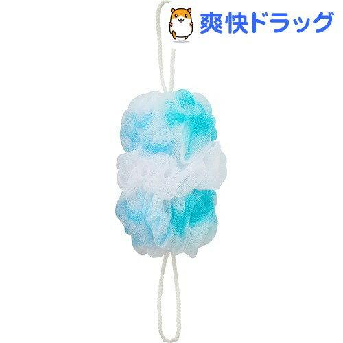 マーナ 背中も洗えるシャボンボール オーロラ ブルー B587B(1コ入)【マーナ】