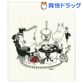 e.スポンジワイプ ムーミン パパ読書中 ブラック(1枚)【e.スポンジワイプ】