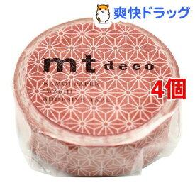 カモイ MT01D426 mt 1P 麻の葉・洗朱(あらいしゅ) 幅15mm*10m(4個セット)