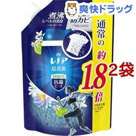 レノア 本格消臭 スポーツ 抗菌ビーズ クールリフレッシュの香り つめかえ用 特大(760ml*2袋セット)【レノア】