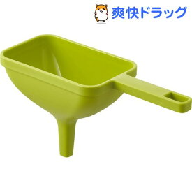 ハンドル付き漏斗 角型 アクア グリーン(1個)
