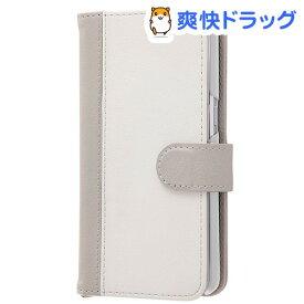 docomo GaLaxy FeeL SC-04J 手帳型ケース ノーブル グレー/ホワイト(1コ入)【レイ・アウト】