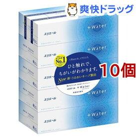 エリエール プラスウォーター(+Water) ティシュー(5箱パック*10コセット)【プラスウォーター(+Water)】[ティッシュ]