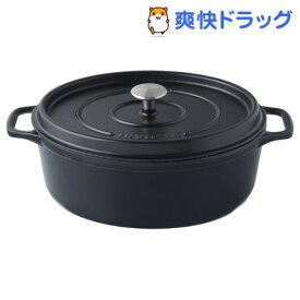 アンヴィクタ オーバルキャセロール 27cm 40227 ブラック(1コ入)【INVICTA(アンヴィクタ)】
