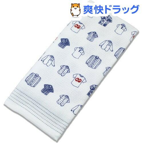 今治産 布ごよみ フェイスタオル シャツ ブルー 28883(1枚入)