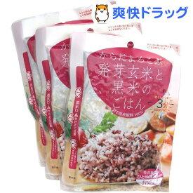 からだよろこぶ発芽玄米と黒米のごはん(160g*3袋入)【JAグリーンサービス花巻】