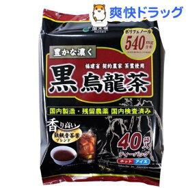 国太楼 豊かな濃く 黒烏龍茶 ティーバッグ(40袋入)【国太楼】