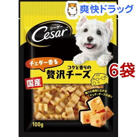 シーザースナック チェダー香るコクと香りの贅沢チーズ(100g*6コセット)【d_cesar】【シーザー(ドッグフード)(Cesar)】