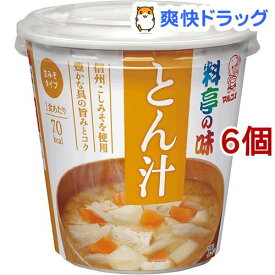 カップ 料亭の味 とん汁(6コ)【料亭の味】[味噌汁]