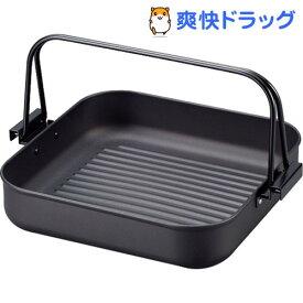 彩食庵 鉄角型焼肉&すきやき鍋 26*26cm SM-8557(1コ入)