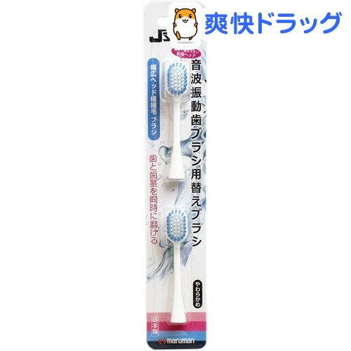 ジェイソニック 音波振動歯ブラシ専用替えブラシ 幅広ヘッド(2本入)