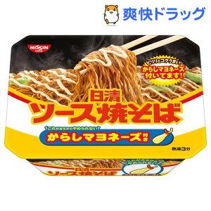 日清ソース焼そばカップ からしマヨネーズ付き(108g*12食入)【日清】