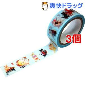 マスキングテープ 猫の音楽隊 CT346(3個セット)