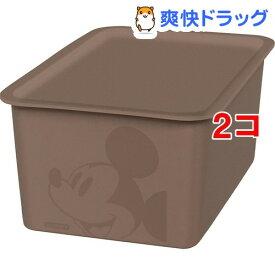 ミッキーマウス スクエアボックス ハーフ ブラウン(1コ入*2コセット)