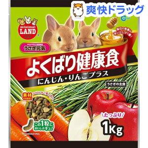 ミニマルランド うさぎのよくばり健康食 にんじん・りんごプラス(1kg)【ミニマルランド】
